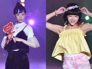 エビ中・松野莉奈&中山莉子、モデルとしてのランウェイに歓声