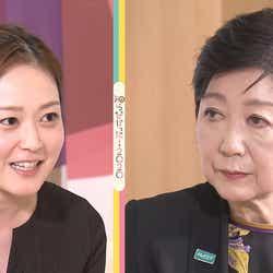 水卜麻美、小池百合子(C)日本テレビ