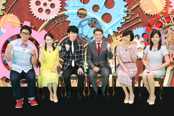 ビビる大木、千葉真子、横山裕、ヒロミ、三田寛子、西野志海アナウンサー (C)テレビ東京