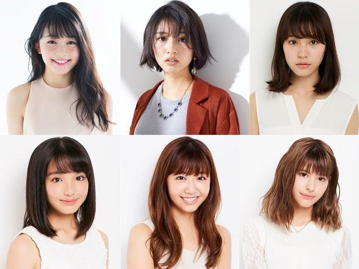 (上段左から)久間田琳加、青島妃菜、南沙良(下段左から)白井杏奈、碓井玲菜、アンジェリカ(提供写真)