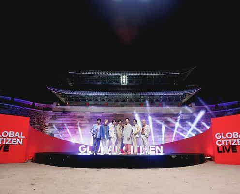 BTS、国宝・崇礼門で世界へパフォーマンス「Global Citizen LIVE」トップバッターで登場