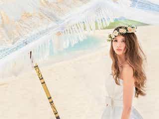 リゾート婚にぴったり♪ 吉川ひなの、大人可愛すぎる新作ウエディングドレス