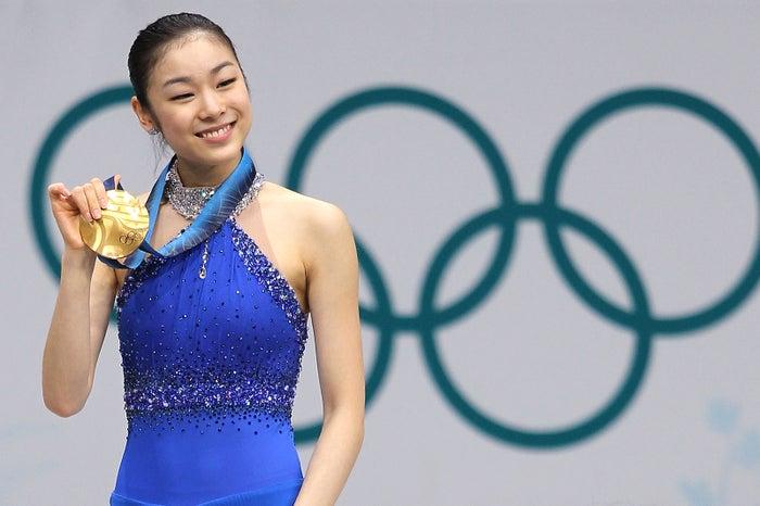 バンクーバー五輪金メダルのキム・ヨナ (Photo by Getty Images)