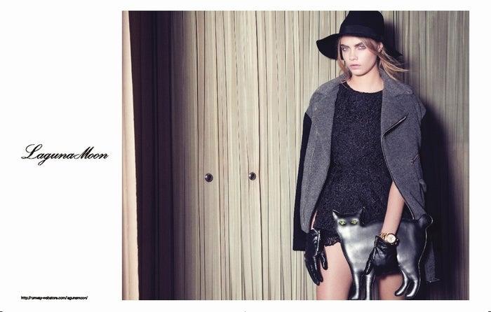 「LagunaMoon」の2012AUTUMN/WINTERカタログモデルに起用されたCara Delevingne(カーラ・デレヴィーニュ)