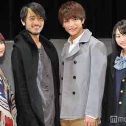 (左から)東亜優、谷口賢志、藤田富、武田玲奈(C)モデルプレス