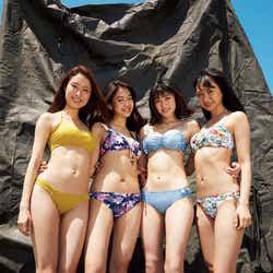 (左から)水野瑛、夢乃、北向珠夕、相沢菜々子(C)Tommy/週刊プレイボーイ
