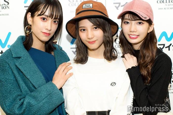モデルプレスのインタビューに応じた佐々木久美、小坂菜緒、高本彩花(C)モデルプレス