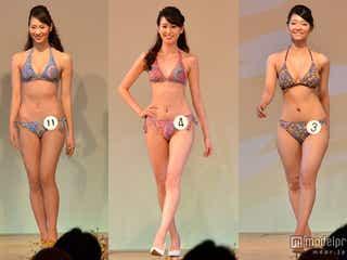 ミス日本たちがビキニ姿で続々 圧巻プロポーションで会場魅了<写真特集/2014ミス日本>
