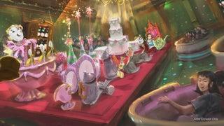 東京ディズニーランド新エリア「美女と野獣」大型アトラクション名&新情報発表 メイキング映像も初公開