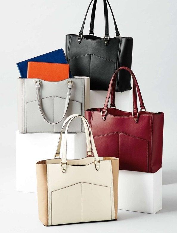 「優しい多機能A4トートバッグ」全4色¥7,996+税 ※10月4日までの5周年セール期間中は20%オフで¥6,396+税