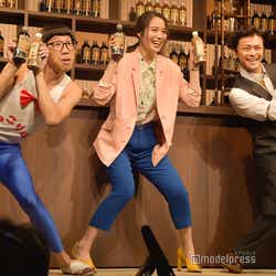全員でひょっこり!(左から)ひょっこりはん、広瀬アリス、勝地涼 (C)モデルプレス
