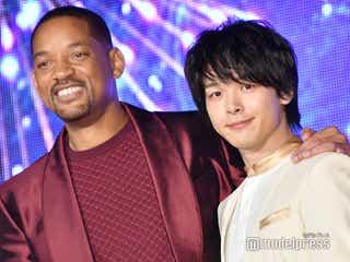 中村倫也、ウィル・スミスの登場に興奮 熱い抱擁交わす<アラジン>