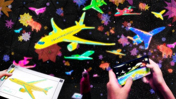 お絵かきヒコーキ/画像提供:中部国際空港