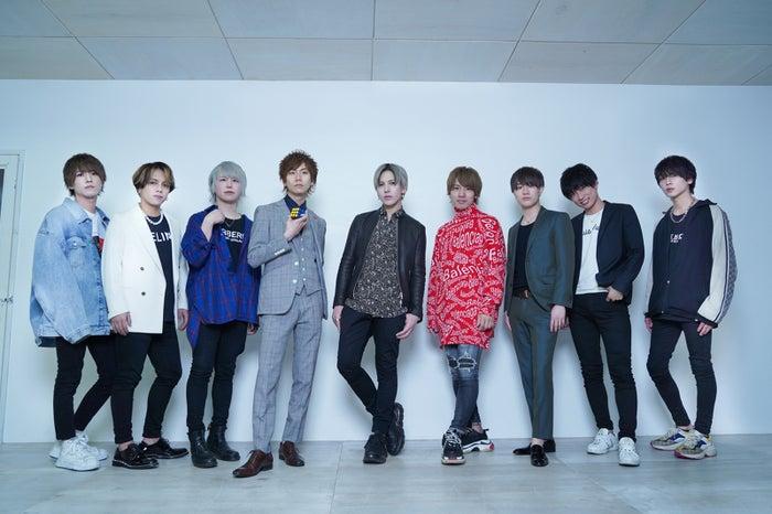 「ACQUA」キャスト/(左から)新星、Leo、りく、愛してりゅー☆、美咲 蓮、蒼井ゆうと、SHUN、瑛翔、優希/提供画像/提供画像
