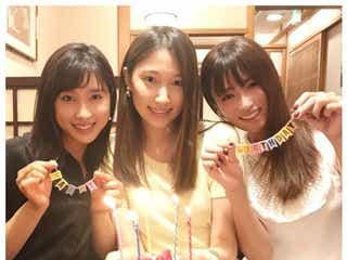 深田恭子、土屋太鳳もサプライズ登場で大野いとバースデー祝福 3ショットに「癒される」「美女祭り」の声