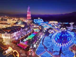 ハウステンボス「光の王国」1,300万球イルミの圧巻の輝き、クリスマスマーケットや花火打ち上げも