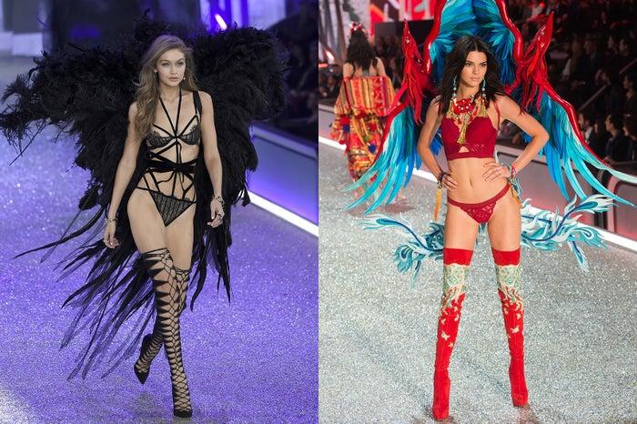 「Victoria's Secret Fashion Show」に出演したジジ・ハディッド、ケンダル・ジェンナー/photo:GettyImages