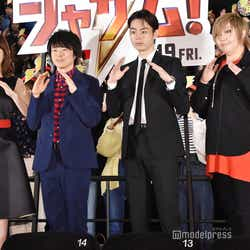 左より:平野綾、阪口大助、菅田将暉、緒方恵美 (C)モデルプレス