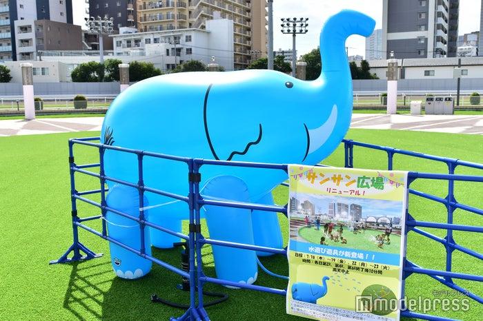 夏季シーズンはサンサン広場に水遊び遊具が登場!