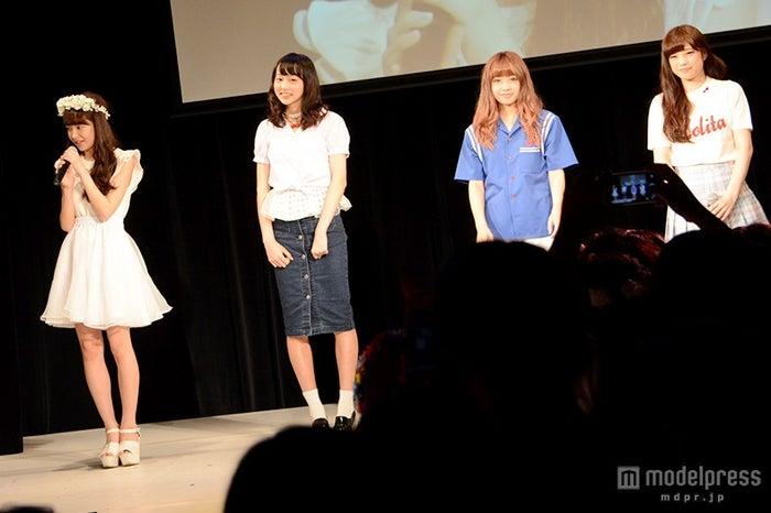 (左から)めいめろ、岡田恋奈、加藤愛永、飯泉吏南