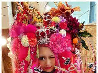 日本一ド派手な新成人「egg」あいめろ姫、盛り髪&ミニ丈振り袖…鬼のこだわりが話題