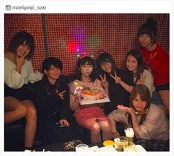 AKB48島崎遥香「産まれました」永尾まりやらと盛大バースデー 広瀬すずも祝福