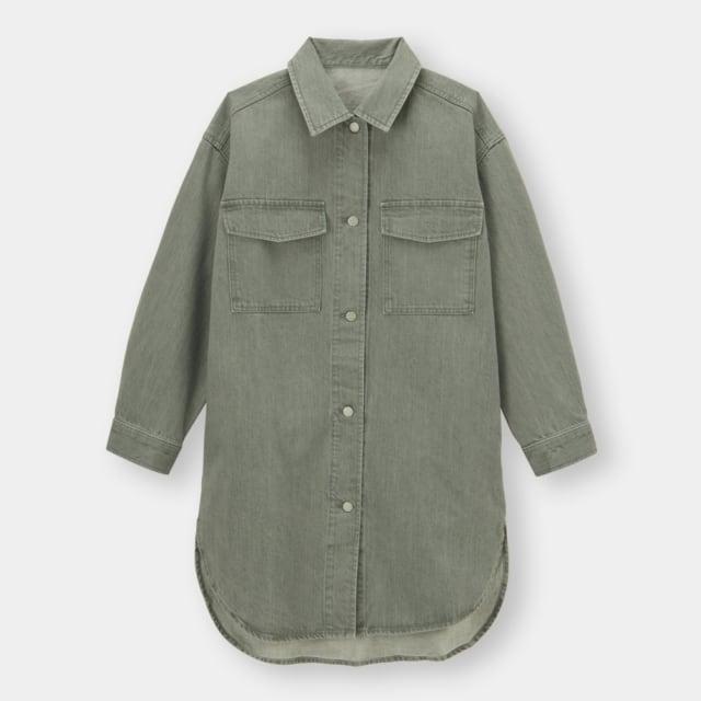 オリーブカラーのCPOデニムジャケット