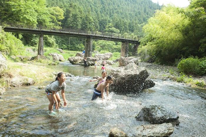 徒歩2分の高麗川で川遊び/画像提供:一般財団法人休暇村協会