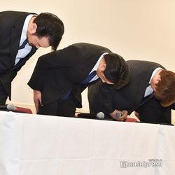 純烈4人、会見で謝罪 友井雄亮が芸能界引退