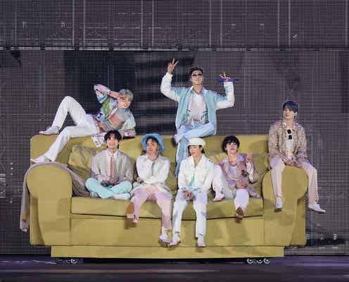 BTS「近いうちに皆さんに会いに行きます」1年ぶりコンサートで有観客への希望伝える<PERMISSION TO DANCE ON STAGE>