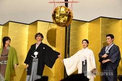 (左から)京本政樹、GACKT、二階堂ふみ、伊勢谷友介(C)モデルプレス