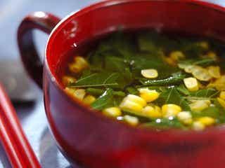 キレイの源がたっぷり!栄養満点の「モロヘイヤとコーンのスープ」レシピ