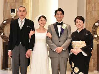 宮崎あおい、共演者も見惚れるウエディングドレス姿披露<あしたの家族>