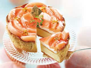 まるで花のよう!PABLOから桃のチーズタルトが登場