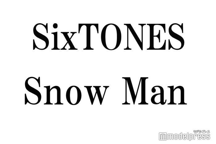 """<SixTONES(ストーンズ)プロフィール>2015年、ドラマ「私立バカレア高校」出演者のジェシー、京本大我、高地優吾(※「高」は正式には「はしごだか」)、松村北斗、森本慎太郎、田中樹で結成。公式YouTubeチャンネル「ジャニーズJr.チャンネル」で公開されたMV「JAPONICA STYLE」が、世界各地で展開している「YouTube アーティストプロモ」に日本で初めて抜擢。単独全国ツアー「Rough""""xxxxxx""""」を開催中。2020年1月22日に「Imitation Rain」でCDデビュー。<br> <br> <Snow Man(スノーマン)プロフィール>2012年、深澤辰哉、佐久間大介、渡辺翔太、宮舘涼太、岩本照、阿部亮平で結成後、2019年1月に向井康二、目黒蓮、ラウールが加入し9人体制に。舞台「滝沢歌舞伎ZERO」で主演を務め、3月の横浜アリーナ公演で9人揃った姿がファンの前で初お披露目された。2020年1月22日に「D.D.」でCDデビュー。アジアツアーを予定している。"""