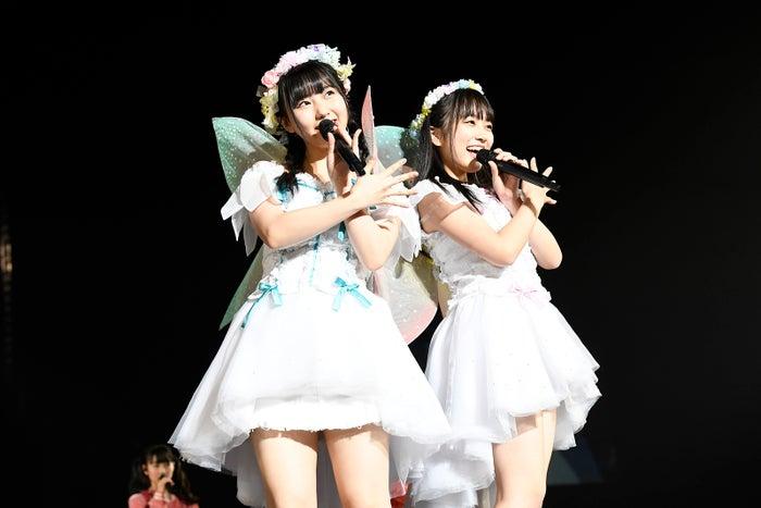 11枚目のシングルでWセンターに抜擢された田中美久、矢吹奈子「HKT48春のアリーナツアー2018~これが博多のやり方だ!~」/さいたまスーパーアリーナ(C)AKS