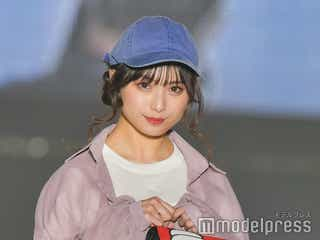 NMB48梅山恋和、ショーパンで美脚披露 カジュアルもガーリーもハマる正統派ビジュアルに注目<関コレ2021S/S>
