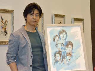 上川隆也「もっこり、果敢に挑戦していく」冴羽の姿で『北条司原画展』に登場
