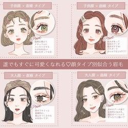 【診断チャート付き】顔タイプ別「似合う眉メイク」 誰でもすぐに可愛くなれる!
