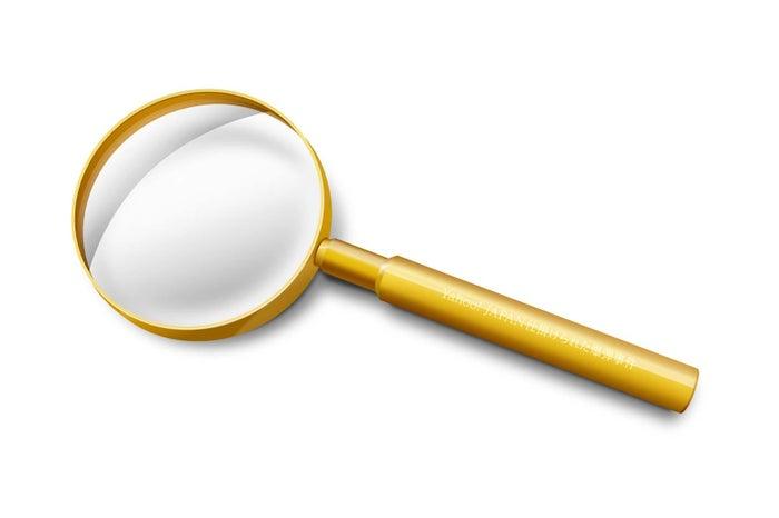 純金の虫眼鏡