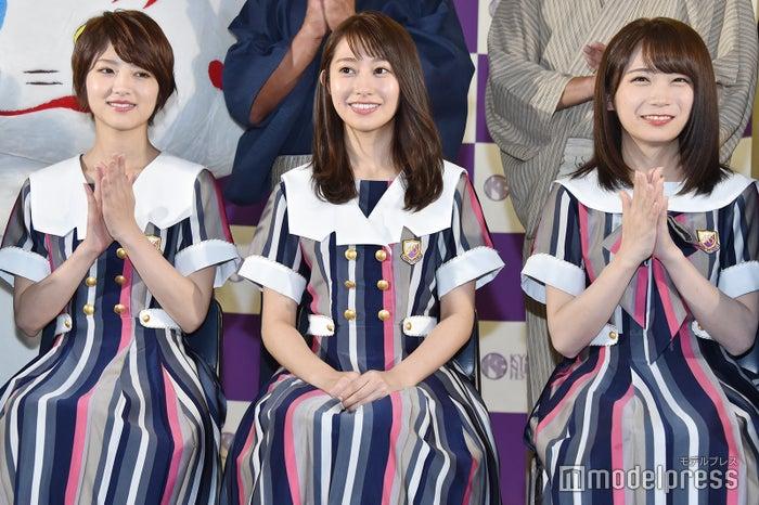 若月佑美、桜井玲香、秋元真夏 (C)モデルプレス