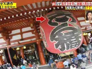浅草寺の大提灯に書いてある「志ん橋」の文字、この文字の読み方と由来は?