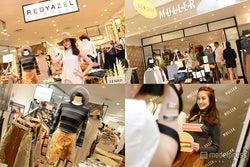 サマンサタバサグループ発アパレルショップ新店オープン 人気モデル来店で秋注目ファッションを語る