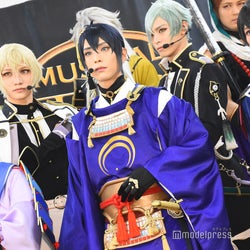 (前列左から)大平峻也、黒羽麻璃央、阪本奨悟 (C)モデルプレス