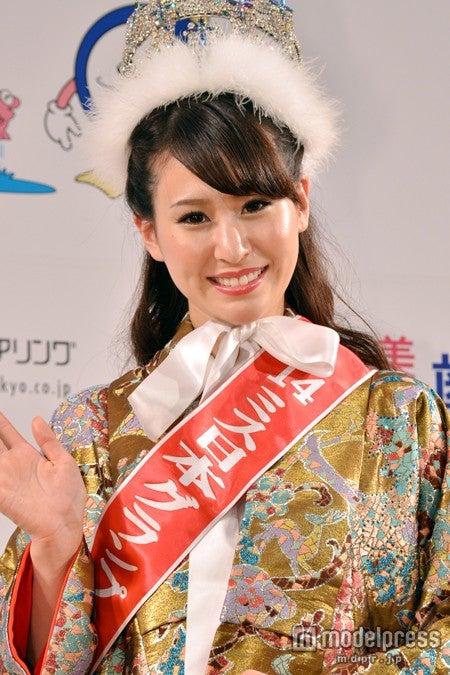 「2014ミス日本」グランプリを受賞した沼田萌花さん
