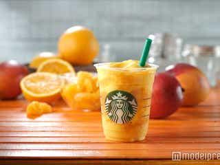 スタバ、オレンジ&マンゴーのフルーツ感溢れる新フラペチーノ登場