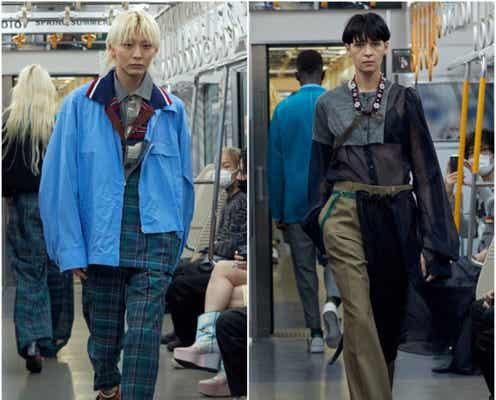楽天ファッション・ウィーク東京22年春夏 豊かに広がる色柄、素材の重なり