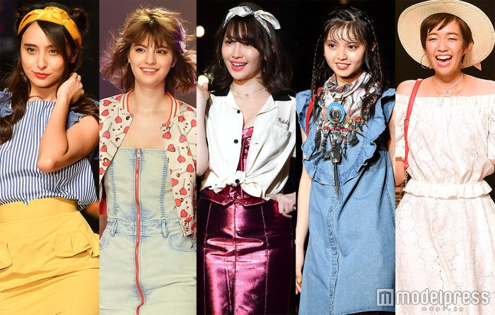 (左から)石田ニコル、マギー、小嶋陽菜、齋藤飛鳥、佐藤栞里(C)モデルプレス
