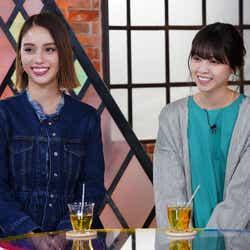(左から)滝沢カレン、西野七瀬 (写真提供:カンテレ)