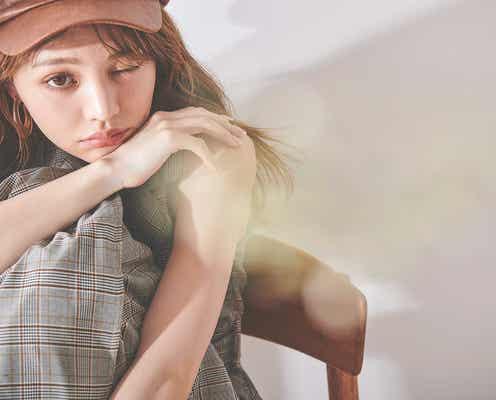 ちぃぽぽ、アンニュイな雰囲気でワンランク上の可愛さ 秋のトレンド服着こなし